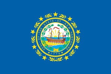 The flag of the United States of America State - New Hampshire