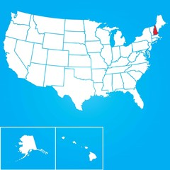 Illustration of the United States of America State - New Hampshi