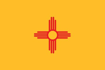 The flag of the United States of America State - New Mexico