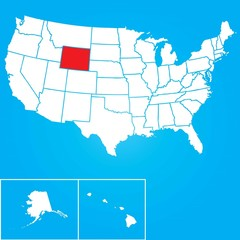 Illustration of the United States of America State - Wyoming