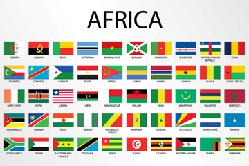 Alphabetical Country Flags for the Continent of Africa