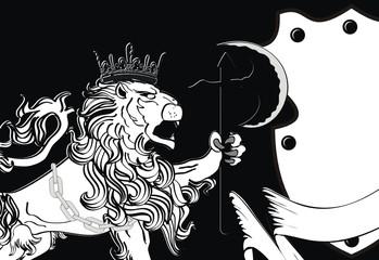 heraldic lion background3