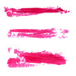 Set of vector red paint stains and textured strokes. Collection