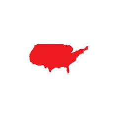 Illustrated Shape of the Country of the United States of America