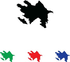 Icon Illustration with Four Color Variations - Azerbaijan
