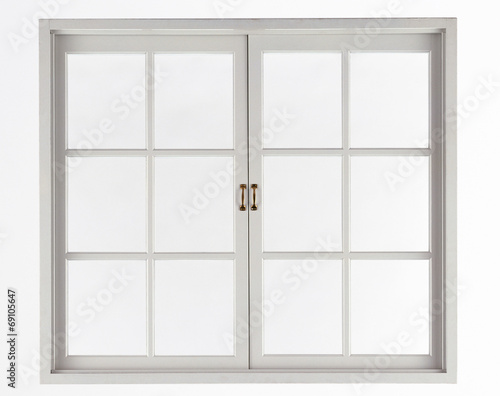 Leinwandbild Motiv Window isolated on white