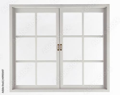 Window isolated on white - 69105647