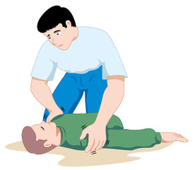 First aid to an unconscious person