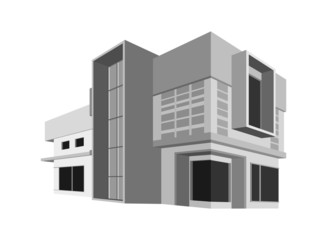 House model,architecture style background