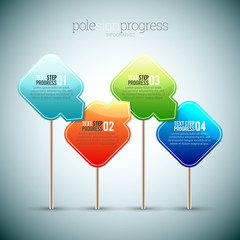 Pole Sign Progress Infographic