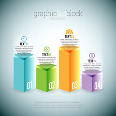 Graphic Bar Block Infographic