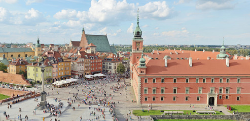 Royal Castle in Warsaw -Stitched Panorama