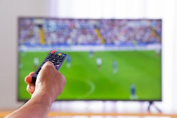 Hand pressing remote control