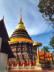 The temple in Thailand