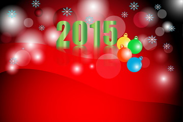 2015 year celebration with snowflake, Illustration vector backgr