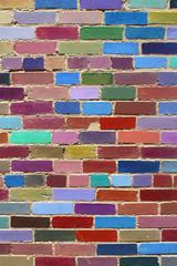 Painted brick wall - Boulder (Colorado)