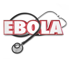Ebola 3d Word Stethoscope Cure Treat Disease Health Care