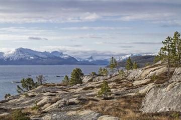 Fjelllandschaft am Tysfjorden