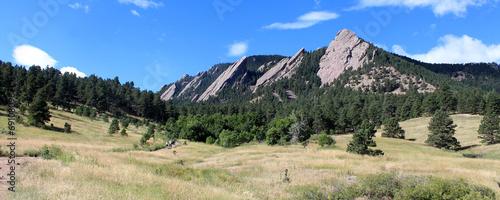 Fotobehang Bergen The Flatirons - Boulder (Colorado)