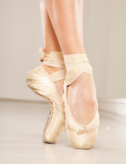 Beautiful ballerina legs with tiptoe