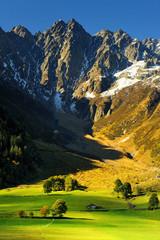 krajobraz górski, Szwajcaria, alpy