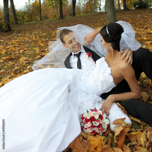 canvas print picture Beautiful wedding photography