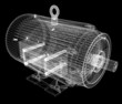Leinwanddruck Bild - 3d-model of an electric motor