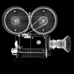 Old camera. 3d render