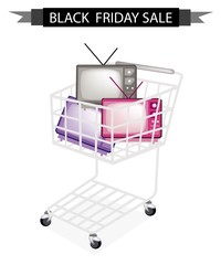 Retro Television in Black Friday Shopping Cart