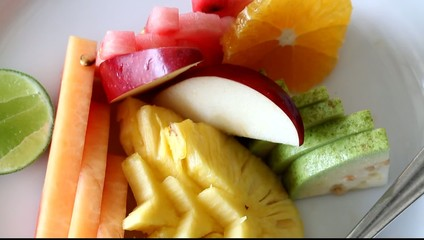 tropical fruit on a plate