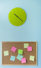Clock and pin board