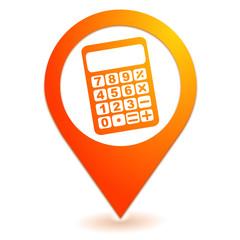 calculatrice sur symbole localisation orange