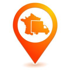 livraison en france sur symbole localisation orange