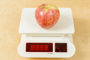 Apple on scale
