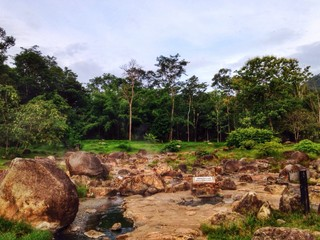 Hot spring at Thailand national park