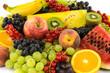 canvas print picture - Farbenfrohes Obst auf weissem Hintergrund