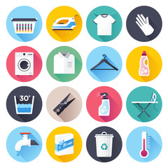 House work and laundry vector icon illustration.