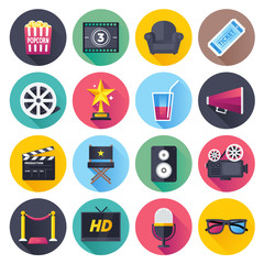 Movie and theater themed vector illustrations