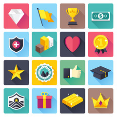 Awards and achievements vector illustrations