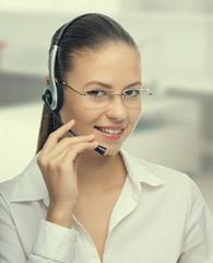 Businesswoman talking on the phone,operator