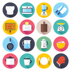 Kitchen objects vector icon illustration