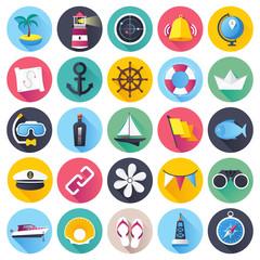 Nautical an marine vector illustrations