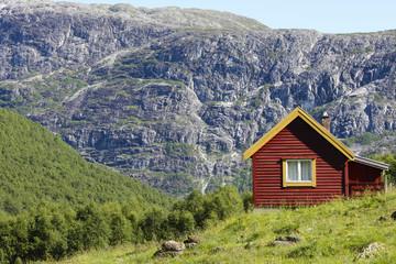 Rotes Häuschen/Berghütte Norwegen/Skandinavien