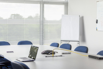 Conference room in corporation facility