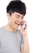 young casual man talking on the phone