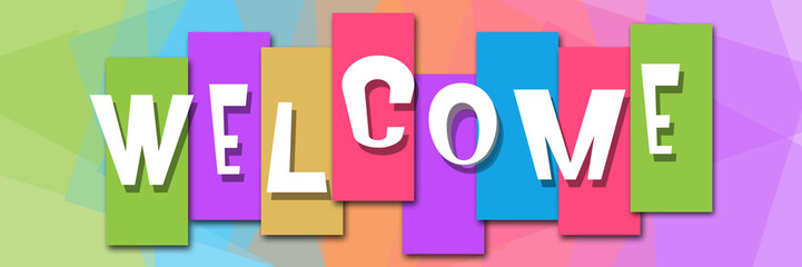 Welcome Colorful Background Banner