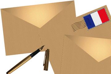 Courrier - Correspondance - Enveloppe timbrée