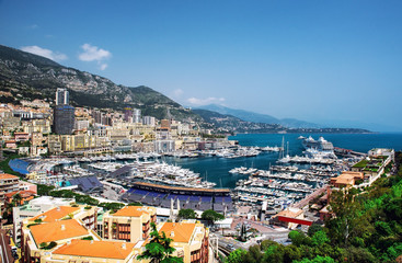 Harbor of Monte Carlo. Principality of Monaco