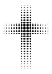 Kreuz aus schwarzen Punkten