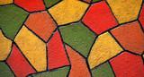 Mosaique colorée en Crépi poster